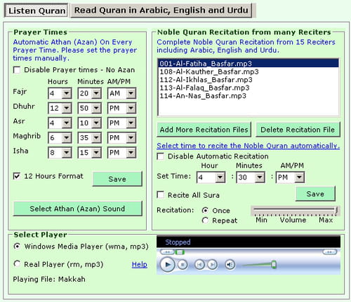 Download the latest version of Quran Auto Reciter free in English on CCM