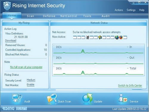 Download rising antivirus 2011 and firewall 2011 free subscription.