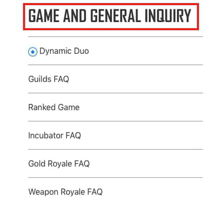 Game and General Enquiry screenshot
