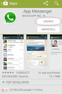 WhatsApp Messenger - Your phone date is inaccurate!