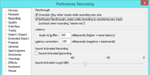 Listen While Recording or Monitoring a New Track in Audacity