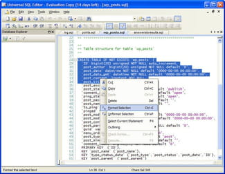 Download the latest version of Universal SQL Editor free in