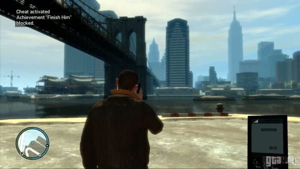 GTA 4 cheat activated
