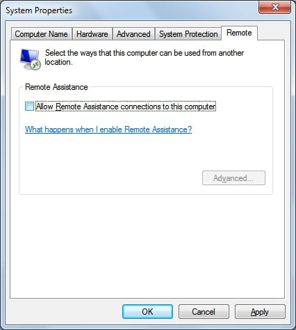how to send a remote assistance request windows 7