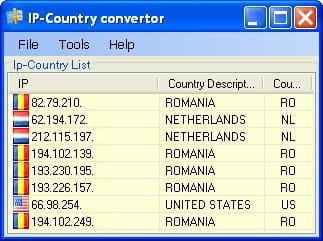 Download the latest version of IP Country Converter free in