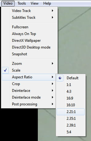 VLC - Rapidly change the aspect ratio of your videos