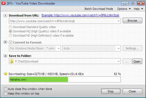 Download the latest version of Youtube video Downloader free in