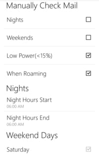 Outlook com for Android - How to configure the Quiet time