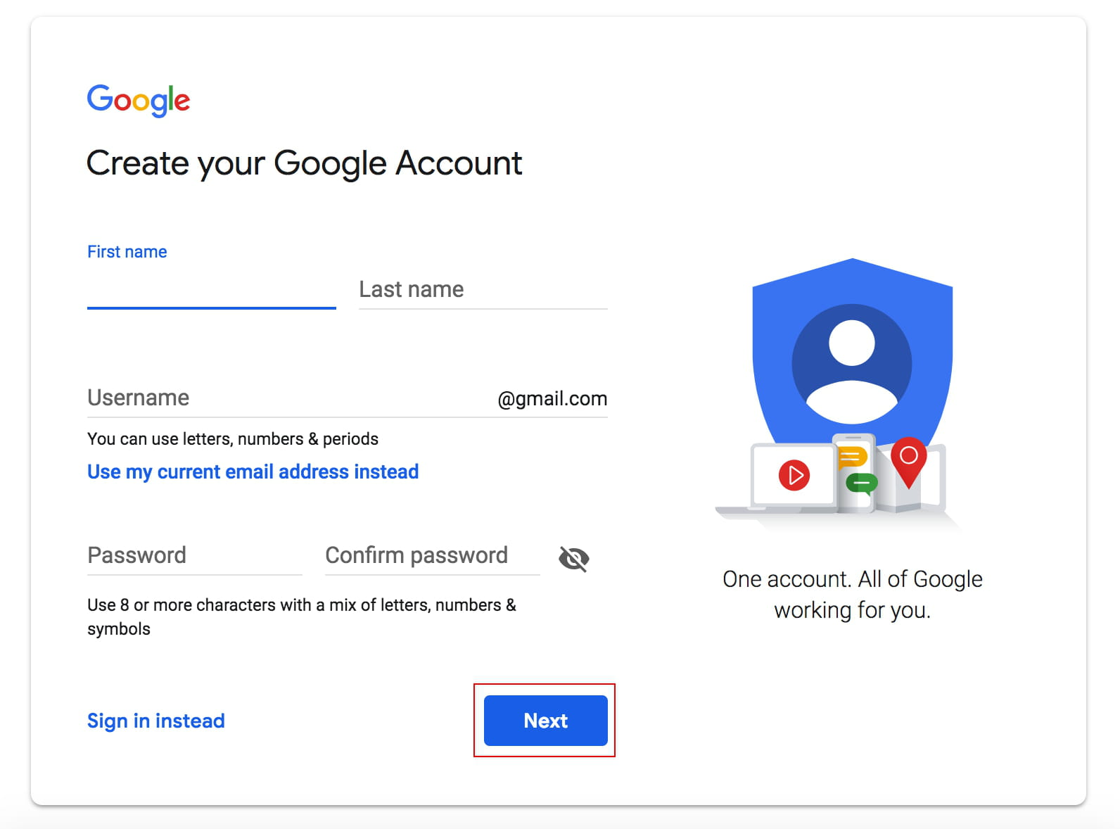 How To Create a Gmail Account - photo#15