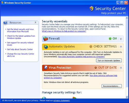 how to turn off security essentials in windows 7