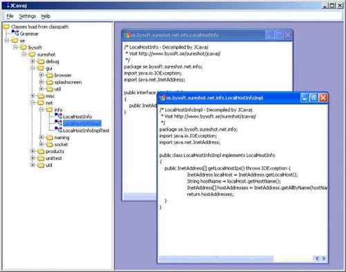 Download the latest version of Cavaj Java Decompiler free in