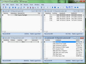 Download the latest version of DBF Manager free in English