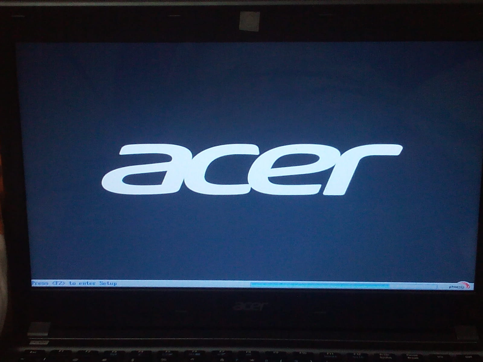 Acer aspire 4755g freezes in startup - BIOS
