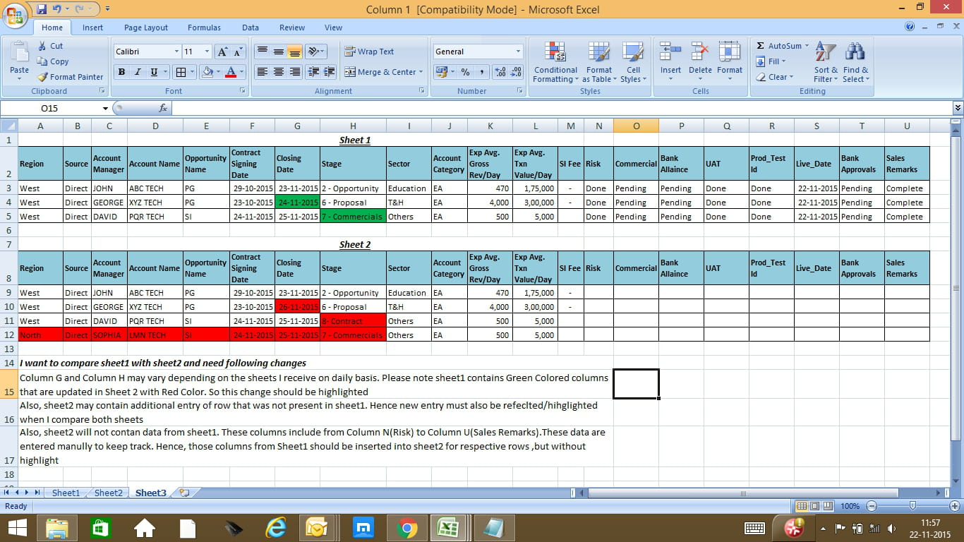 worksheet Excel Compare Two Worksheets how to compare two excel sheets with varying data solved 1
