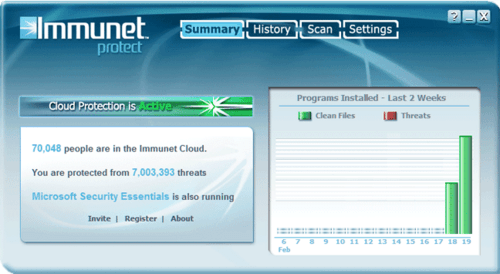 Download the latest version of Immunet Free Antivirus free in
