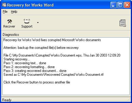 Download the latest version of Recovery for Works free in