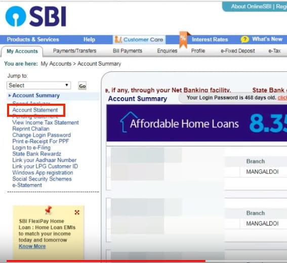 How To Download SBI Account Statement Online