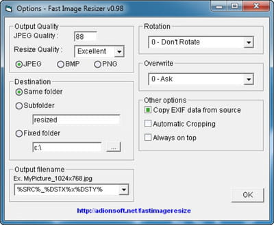 fast image photo resizer