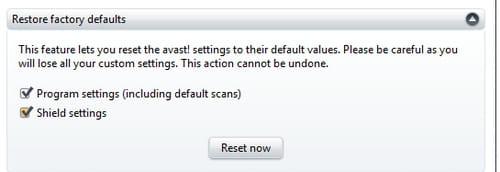 avast firewall settings