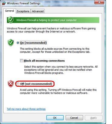 how to close windows firewall