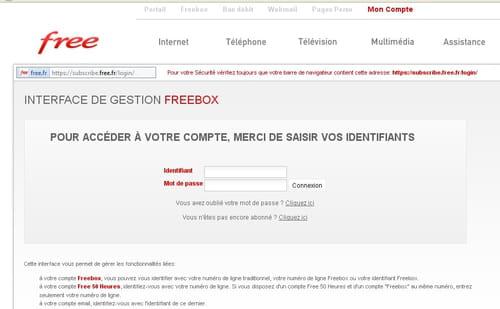changer de mot de passe free webmail