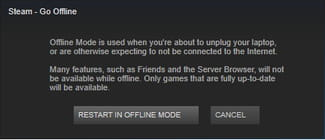 Steam - How to switch to Offline Mode