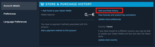 Delete chat history steam to how on A way
