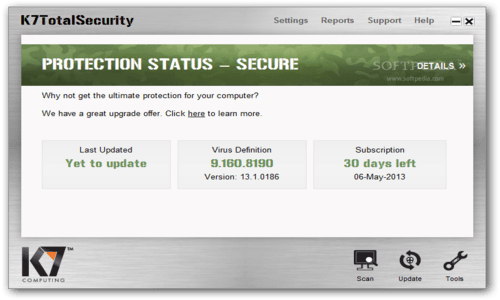 Download the latest version of K7 AntiVirus free in English