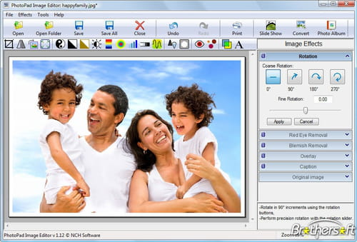 Download the latest version of PhotoPad Image Editor free in
