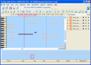 Download the latest version of Able MIDI Editor free in English on CCM