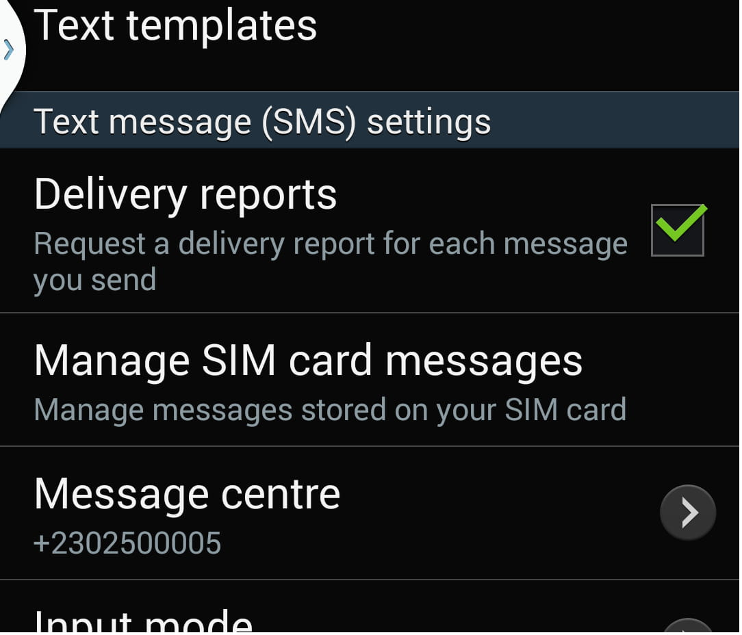 android enable sms and mms delivery report