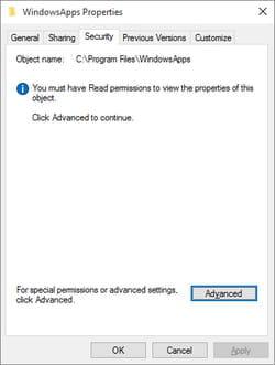 take ownership windows apps